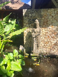 Balinese GreenStone Dewi Sri Rice Goddess Water feature #1837