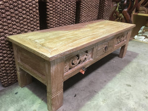 Balinese Hand Crafted Coffee Table With drawer #1855