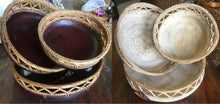 Balinese Round Timber Bowl set #1857