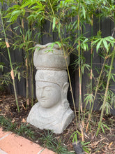 Load image into Gallery viewer, Lady Tara Head Garden Pot - Greenstone