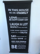 "Balinese ""We Are Family"" Affirmation Scroll"
