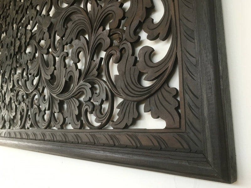 Balinese Wooden Carved Bed Head
