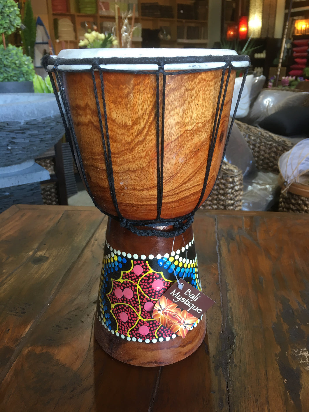 African Djembe Tribal Drum #1882