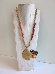 Bronze Leaf Necklace 10107