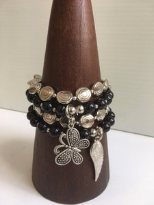 Beaded Bracelet with Charms 1434