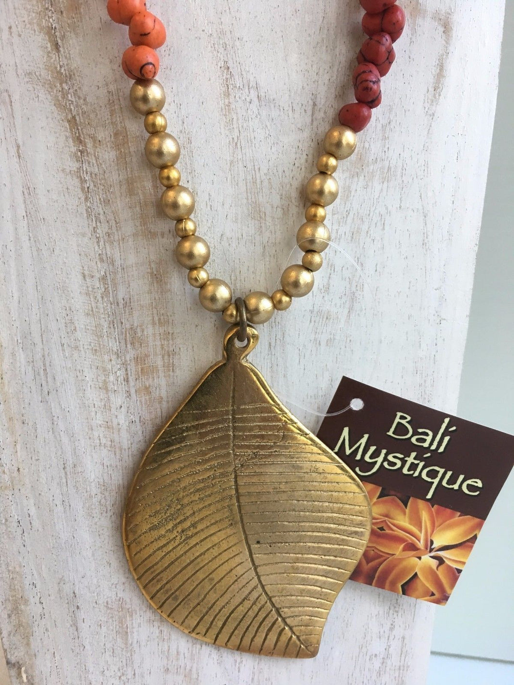 Bronze Leaf Necklace