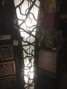 Cream Rattan Wicker Floor Lamp #1582