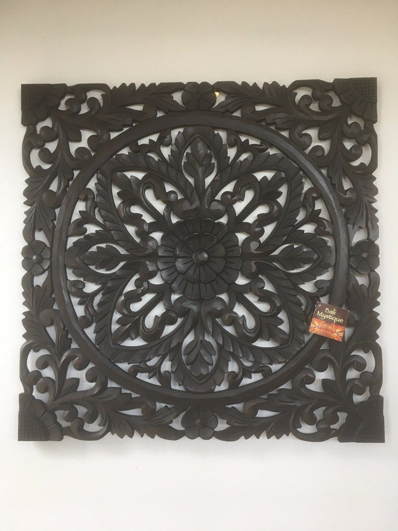 Carved French Hamptons Timber Decorative Wall Hanging Panel