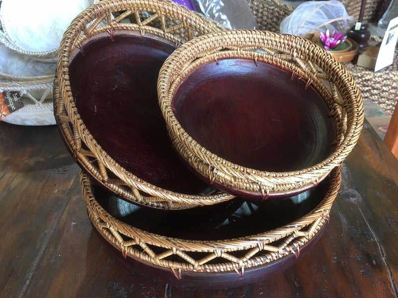 Balinese Round Timber Bowl set