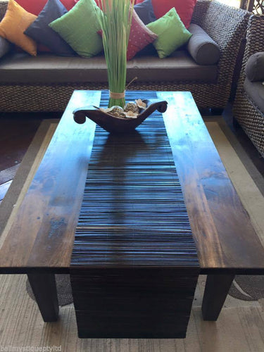 Balinese Brown Bamboo Stick Table Runner #1065