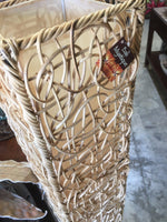 Balinese Square Rattan Floor Lamp