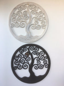 Hand Carved Tree Of Life Wall Hanging 50cm #1873