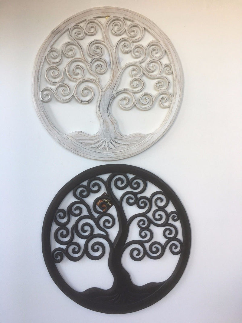 Hand Carved Tree Of Life Wall Hanging 50cm