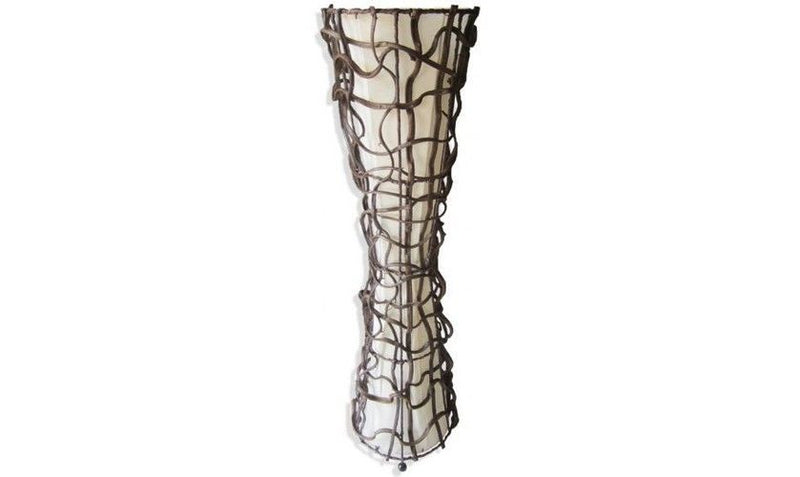 Cream Rattan Wicker Floor Lamp