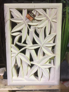 Hand Carved Limestone Bamboo Wall Panel/Tile