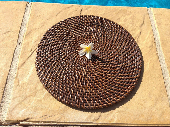 Balinese Round Rattan Cane Place Mat