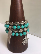 Beaded Bracelet with Charms