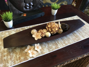 Balinese Carved Mango Wood Boat Dish or Fruit Tray Bali