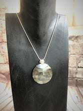Mother Of Pearl Pendant with Silver Clasp