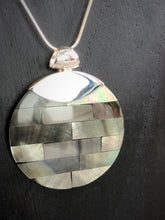 Mother Of Pearl Pendant with Silver Clasp #443
