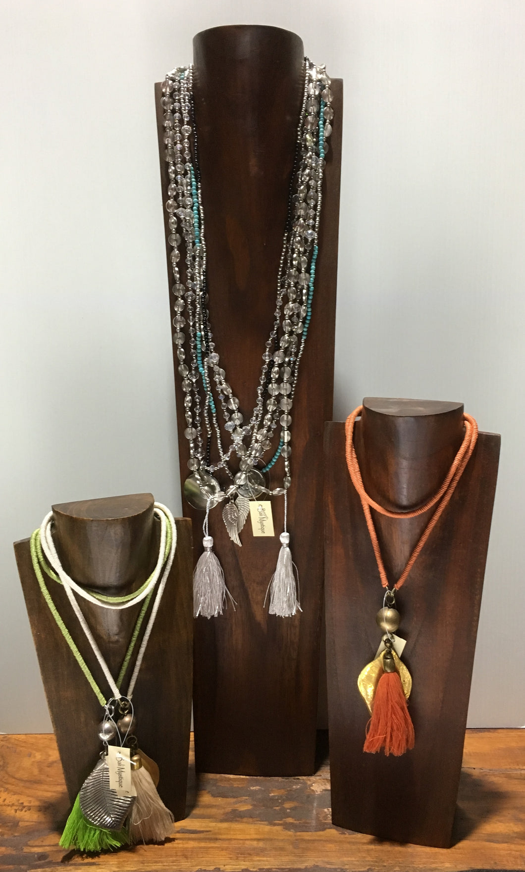 Balinese Stained Timber Jewellery Necklace Display Stands