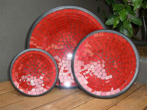 Balinese Glass Mosaic Bowl Set of 3 #583