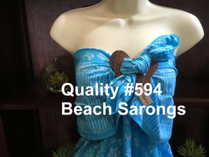 Quality Printed Balinese Beach Sarongs with Coconut Buckles #594