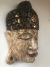 Hand Carved Timber Buddha Mask #608