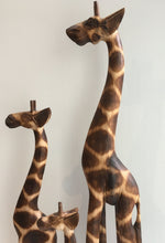 Balinese Hand Carved Timber Wooden Giraffe Statues