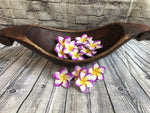Balinese Painted Timber Wooden Frangipani Flowers Wedding Scatters