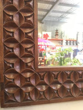 Load image into Gallery viewer, Balinese Carved Timber Batik Mirror