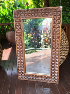 Balinese Carved Timber Batik Mirror