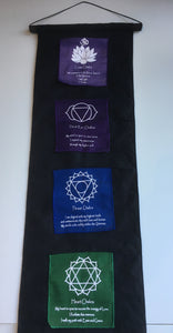 LARGE Balinese Chakra Affirmation Flag Scroll #806