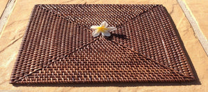 Balinese Rectangle Rattan Cane Placemat #851