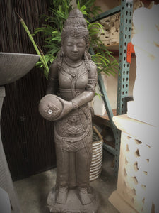 Balinese Cast Concrete Dewi Sri Rice Goddess Water feature Statue