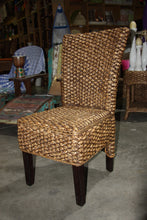 Balinese Quality Water Hyacinth & Mahogany Dining Chair #894