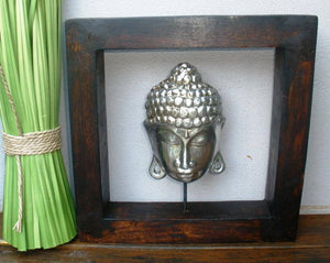 Balinese Framed Buddha Mask Wood Carving Frame #935