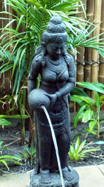 Balinese Cast Concrete Dewi Sri Rice Goddess Water feature Garden Statue