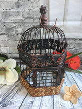 Rustic Bronze Wire Iron Bird Cage Wishing Well / Wedding Centre Piece  #972
