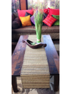Balinese Striped Lidi Stick Table Runners/Placemats with Fringe