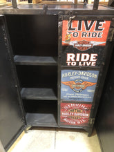 Metal HARLEY Print Two Door Cabinet CS362