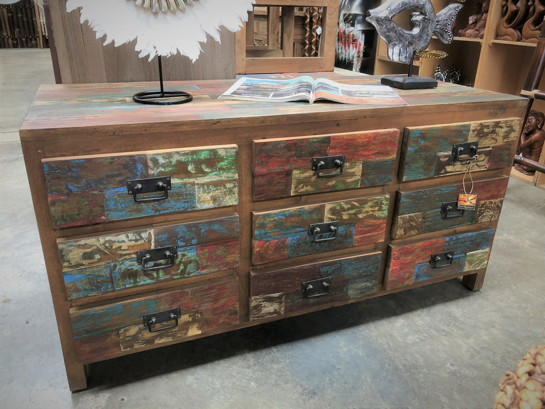 9 Drawer Boat wood Buffet unit/chest of drawers CS365