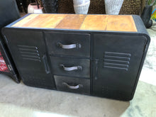 Military Cabinet with Timber Top CS455