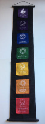 LARGE Balinese Chakra Affirmation Flag Scroll