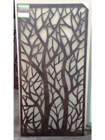 Steel Metal Forest Design Wall Hanging Screen