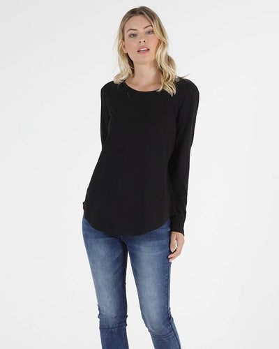 Megan Long Sleeve Top - Black