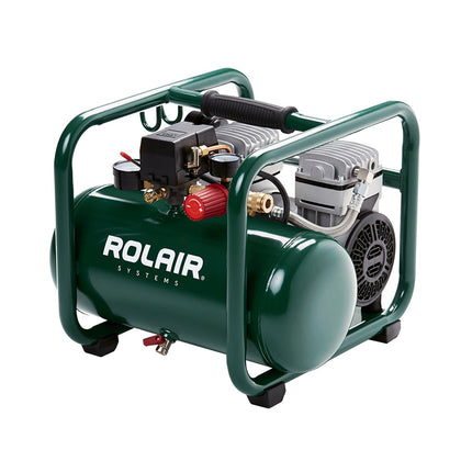 Rolair JC10PLUS 1HP ultra quiet oil free air compressor