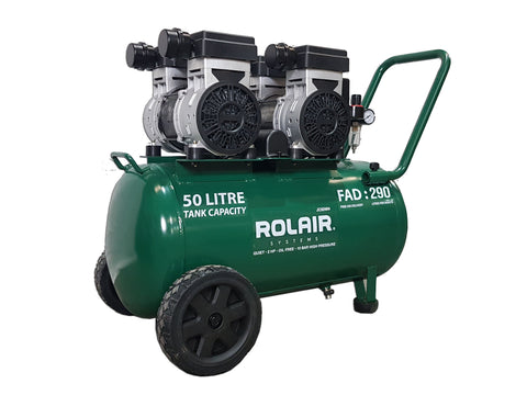 ROLAIR JC50WH AIR COMPRESSOR QUIET OIL FREE 3HP 150 PSI