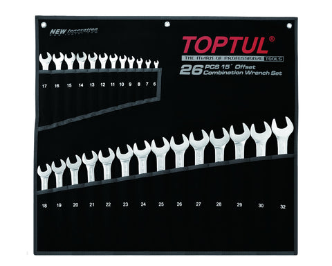 Toptul Super Torque Combination 15° Wrench Set 26pcs