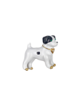 White Puppy Brooch Pin